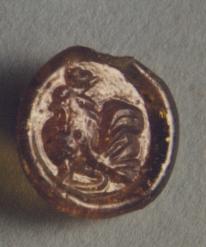 Σφράγισμα με πετεινό, 1ος-2ος αι. μ.Χ., Μουσείο Παλαιόπολης-Mon  Repos.