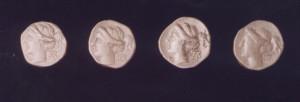 Νομίσματα από το «θησαυρό» των 508 αργυρών νομισμάτων.